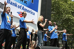 Photo Op - Broadway in Bryant Park 07-26-07 -  Spamalot cast onstage