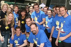 Photo Op - Broadway in Bryant Park 07-26-07 -  Spamalot cast backstage