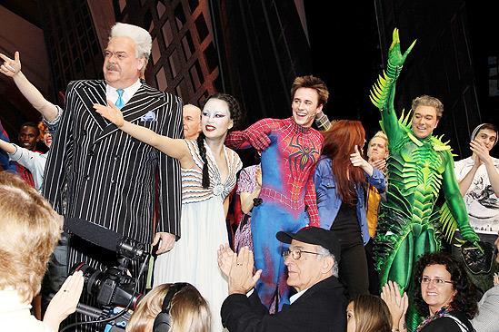Spiderman final – Michael Mulheran – T.V. Carpio – Reeve Carney  - Jennifer Damiano Patrick Page
