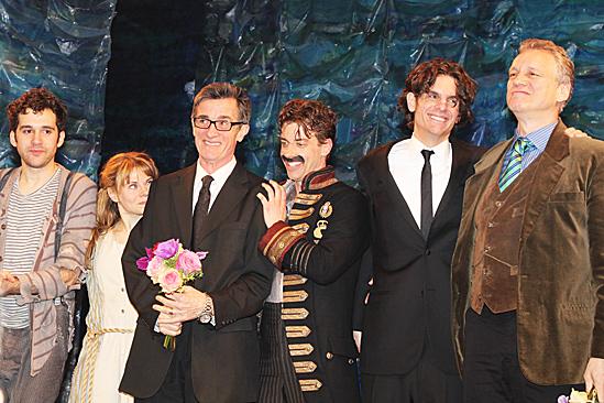 Peter and the Starcatcher Opening Night – Adam Chanler-Berat – Celia Keenan-Bolger – Roger Rees – Christian Borle -Alex Timbers – Rick Elice