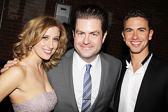 Broadway Com Photo 13 Of 61 Richard Fleeshman Caissie Levy More Celebrate Three Little Words Ghost Opening Night