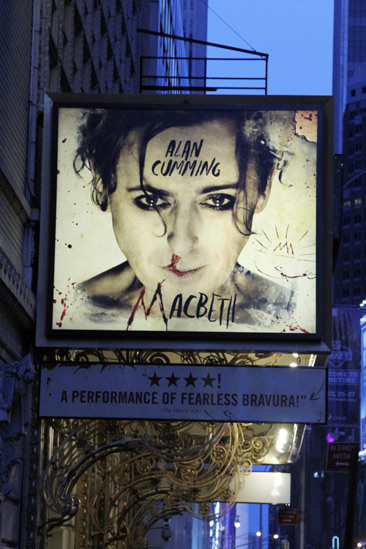 Macbeth – Opening Night – marquee