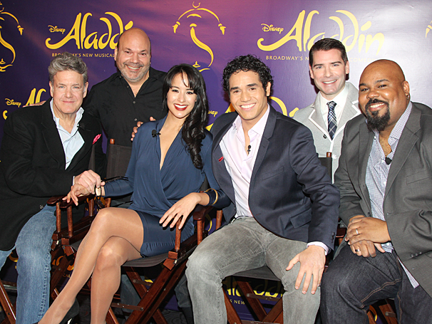 Aladdin - Meet and Greet - OP - Jonathan Freeman - Casey Nicholaw - Courtney Reed - Adam Jacobs - Chad Beguelin - James Monroe Iglehart