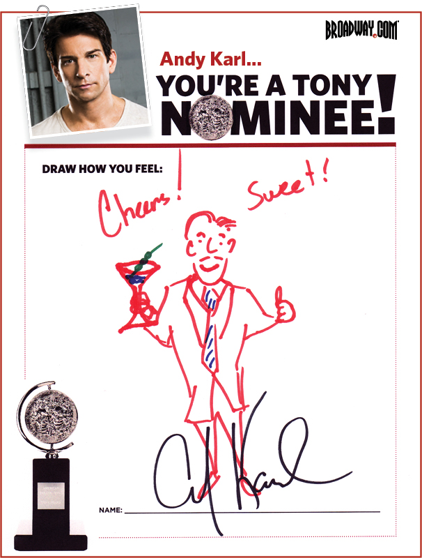 Tony Nominee Drawings – 2015 – Andy Karl