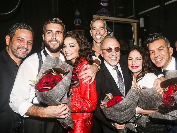 On Your Feet! - Opening - 11/15 - Alexander Dinelaris, Josh Segarra, Ana Villafane, Jerry Mitchell, Emilio and Gloria Estefan and Sergio Trujillo