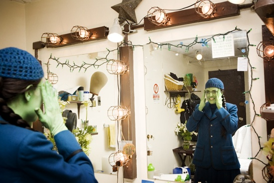 Nicole Parker Backstage at Wicked – dressing4