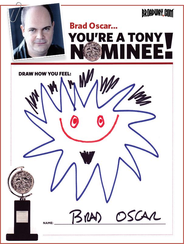 Tony Nominee Drawings – 2015 – Brad Oscar