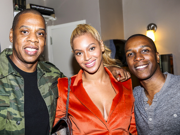 Hamilton - Backstage - 10/15 - Jay Z, Beyonce and Leslie Odom Jr.