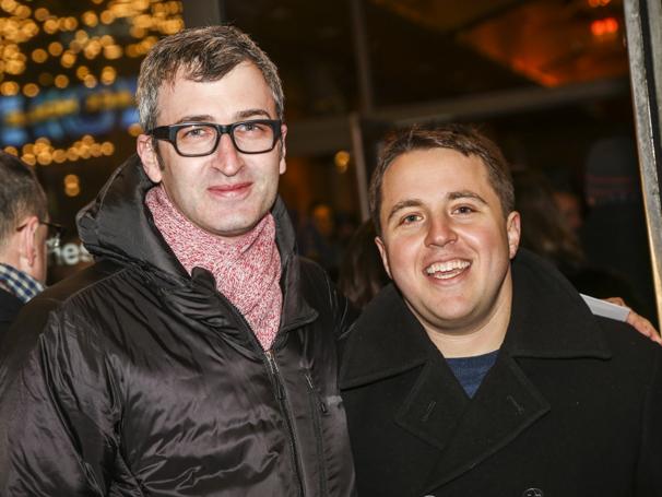 Noises Off - Show Photos - 1/16 - director Daniel Aukin-playwright Joshua Harmon