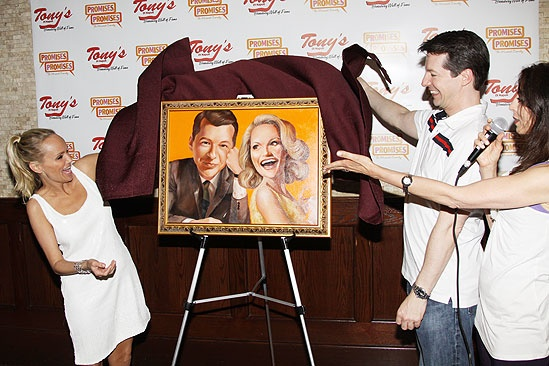 Kristin Chenoweth and Sean Hayes at Tony's Di Napoli – reveal