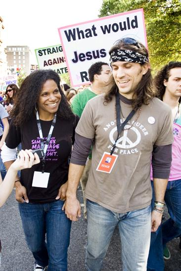 Hair at the National Equality March - Audra McDonald - Will Swenson