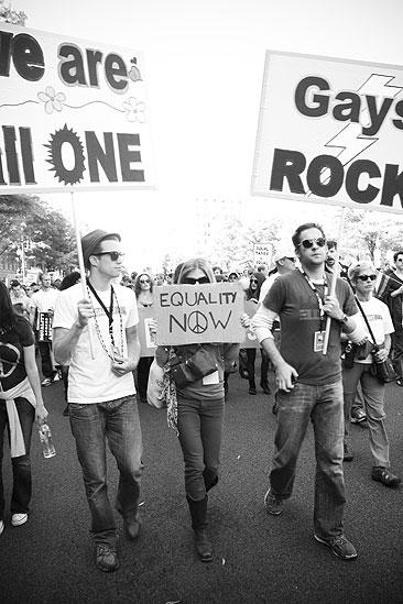 Hair at the National Equality March - Gavin Creel - Caissie Levy - Andrew Kober