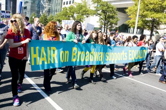Hair at the National Equality March - Kacie Sheik