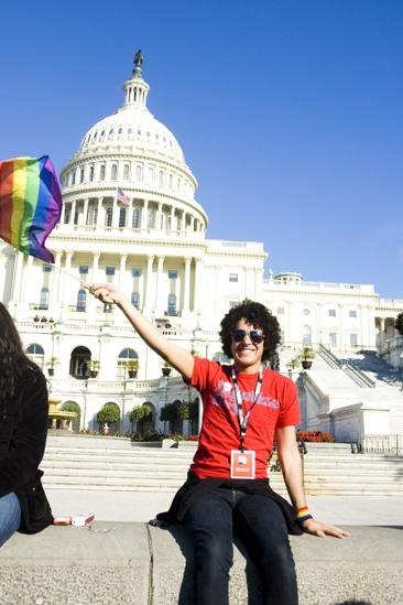 Hair at the National Equality March - John Moauro (flag)