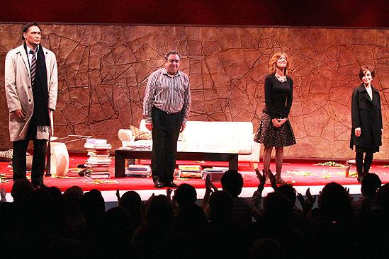 First preview of God of Carnage new cast – curtain call