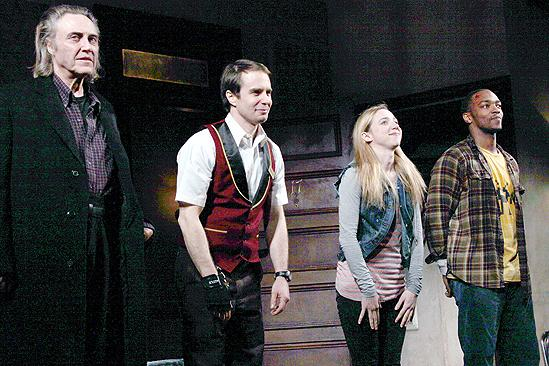 Behanding in Spokane Opening Night – Christopher Walken – Sam Rockwell – Zoe Kazan – Anthony Mackie (curtain call)