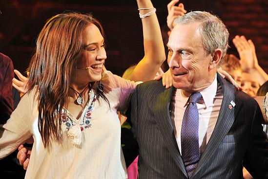 Mayor Bloomberg at Hair – Diana DeGarmo – Michael Bloomberg