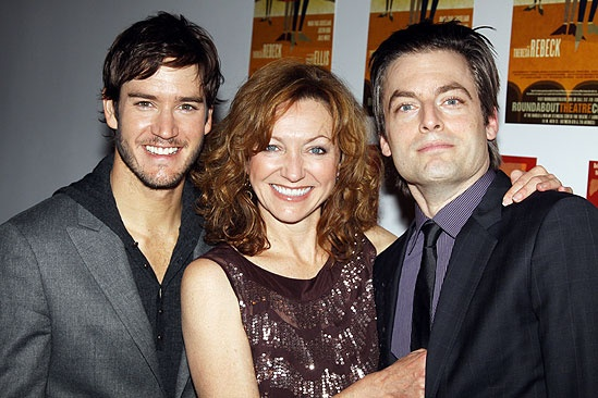 The Understudy Opening - Mark-Paul Gosselaar - Julie White - Justin Kirk (three shot)