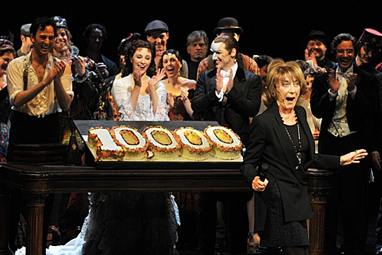 Phantom of the Opera – 10,000 Performance – cast – Kyle Barisich - Trista Moldovan – Hugh Panaro – Gillian Lynne