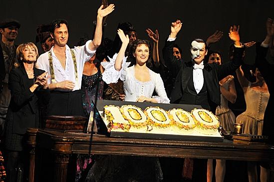 Phantom of the Opera – 10,000 Performance – Gillian Lynne – Kyle Barisich – Trista Moldovan – Hugh Panaro