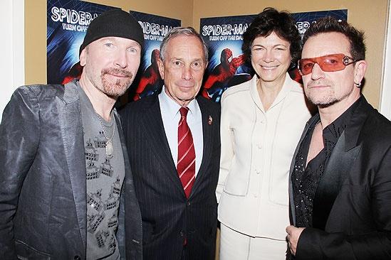 Spider-Man opening – The Edge – Mayor Bloomberg – Diana Taylor – Bono