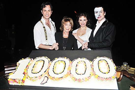 Phantom of the Opera – 10,000 Performance – Kyle Barisich – Gillian Lynne – Trista Moldovan – Hugh Panaro