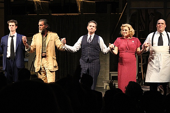 Death of a Salesman - Andrew Garfield, Danny Glover, Remy Auberjonois, Molly Price and Glenn Fleshler