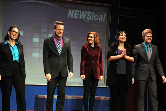 Andrea McArdle in Newsical – Susan Mosher – Michael West – Andrea McArdle – Christine Pedi – Tommy Walker