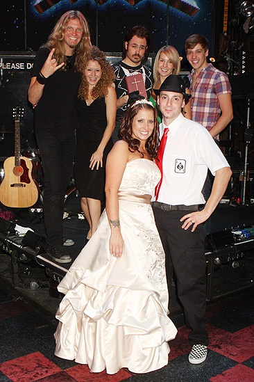 Rock of Ages wedding – Mr. and Mrs. Fontana
