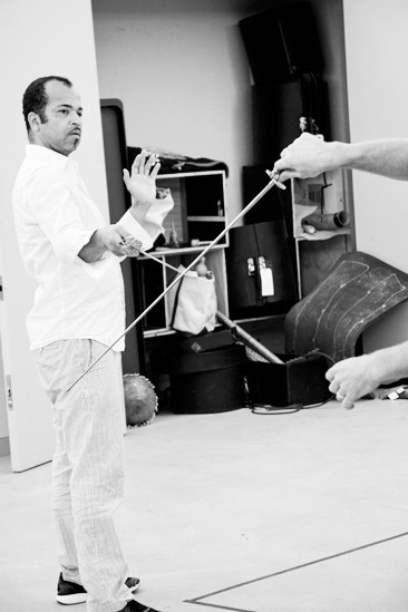 Free Man of Color Rehearsal – Jeffrey Wright (crossed swords)