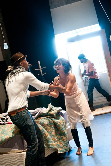 Streetcar Named Desire rehearsal – Wood Harris – Nicole Ari Parker – Blair Underwood