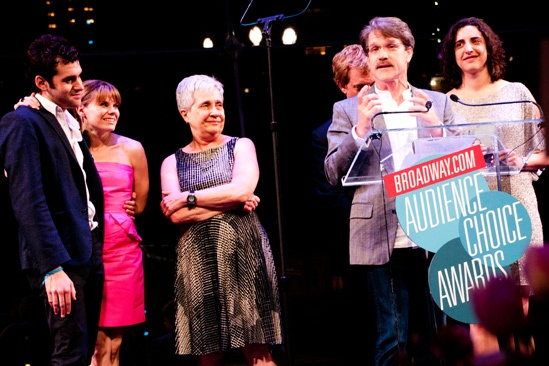 2012 Audience Choice Awards – Ceremony Photos – Adam Chanler-Berat – Celia Keenan-Bolger - Nancy Nagel Gibbs –  Greg Schaffert – Tom Smedes - Eva Price