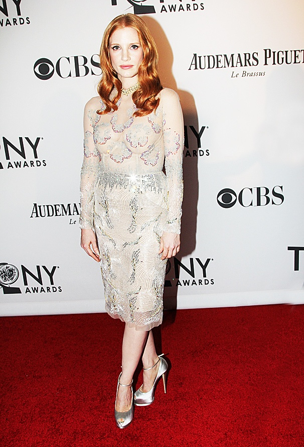 2012 Tonys Best Dressed Women – Jessica Chastain