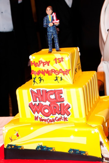 Nice Work If You Can Get It – 1 Year Anniversary – cake