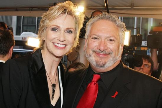 Tony Red Carpet- Jane Lynch- Harvey Fierstein