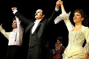 Phantom Record Breaking Party - Tim Martin Gleason - Howard McGillin - Sandra Joseph (curtain)