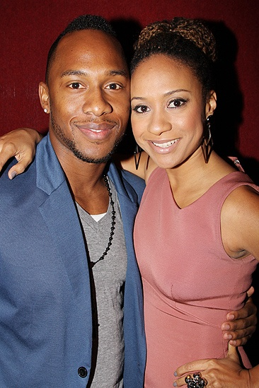 <i>Stick Fly</i> Opening Night – Tracie Thoms and boyfriend