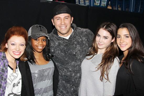 Gabby Douglas, McKayla Maroney and Aly Raisman at 'Bring It On' — Courtney Corbeille — Gabby Douglas — Dahlston Delgado — McKayla Maroney — Aly Raisman