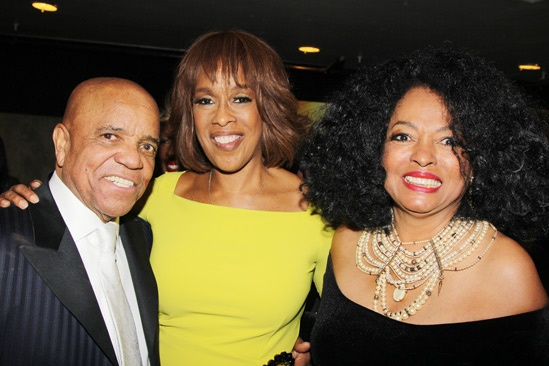 'Motown' Opening Night — Berry Gordy — Gayle King — Diana Ross