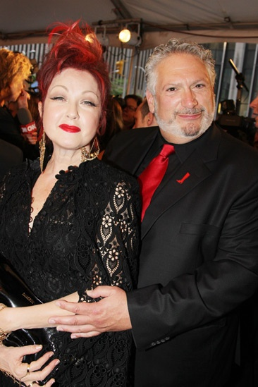 Tony Red Carpet- Cyndi Lauper- Harvey Fierstein
