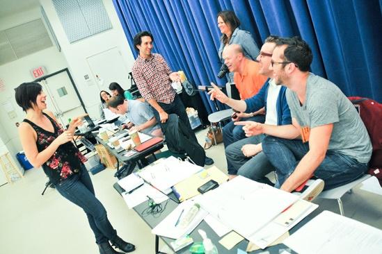'First Date' Rehearsal — Josh Rhodes — Krysta Rodriguez — Bill Berry