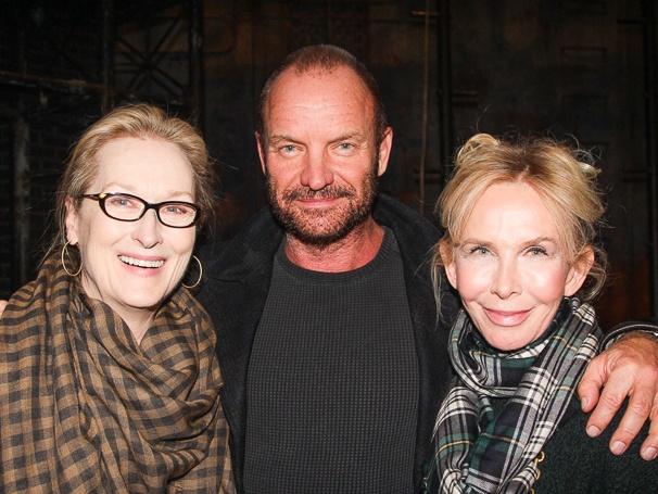 Meryl Streep - Sting and - wife - Trudie Styler