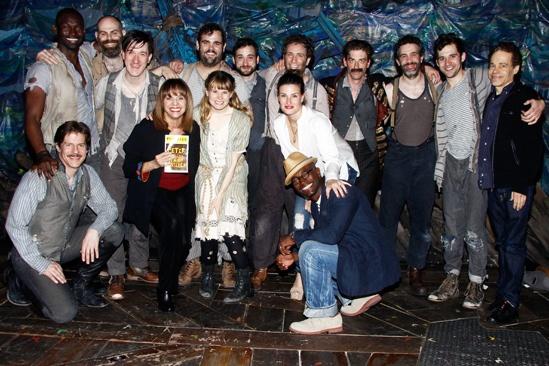 Menzel Diggs at Starcatcher – Peter and the Starcatcher cast – Idina Menzel – Valerie Harper – Taye Diggs – Steven Sater