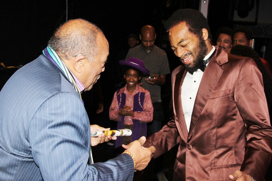 Quincy Jones at 'Motown' — Quincy Jones — Brandon Victor Dixon