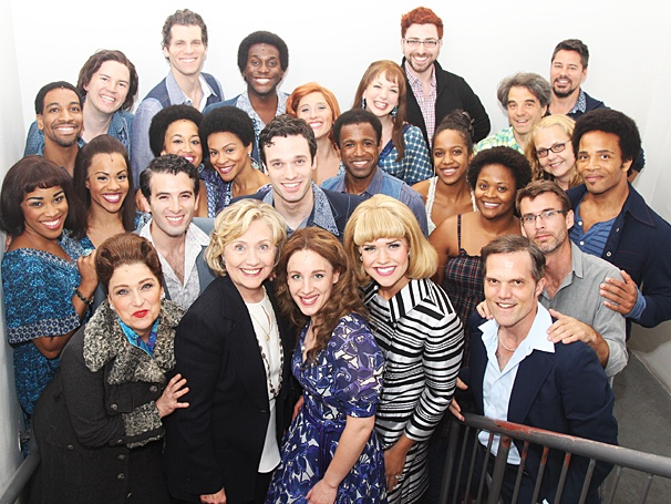 Beautiful - Backstage - Op - 7/14 - Hillary Clinton - cast