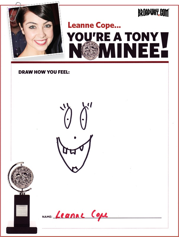 Tony Nominee Drawings – 2015 – Leanne Cope