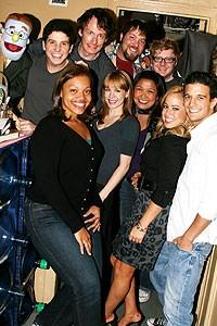 Photo Op - Sabrina Bryan at Avenue Q - Sabrina Bryan - Mark Ballas - cast