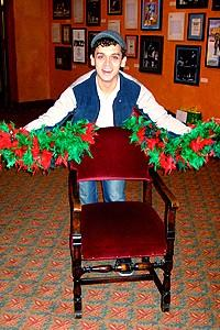 Photo Op - Holidays at Jersey Boys - Michael Longoria (presenting the chair)
