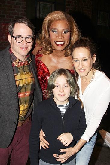 Kinky Boots - Sarah Jessica Parker visits - OP - Matthew Broderick - Billy Porter - James Wilkie Broderick - Sarah Jessica Parker