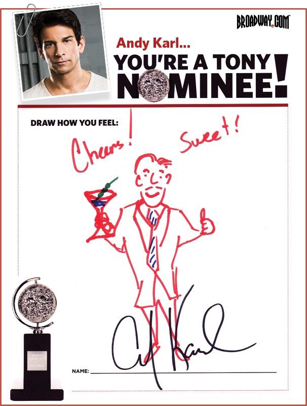 Tony Nominee Drawings – 2015 – Andy Karl